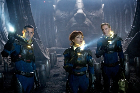 Prometheus - Logan Marshall-Green, Noomi Rapace, and Michael Fassbender