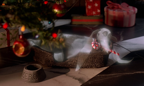 The Nightmare Before Christmas - Zero, the red-nosed ghost dog