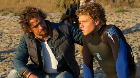 Chasing Mavericks - Gerard Butler and Jonny Weston