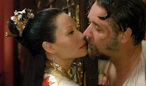 The Man with the Iron Fists - Lucy Liu and Russell Crowe
