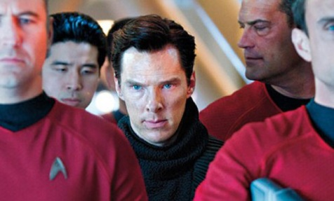 The film's villain amongst a bunch of red shirts. This isn't going to end well...