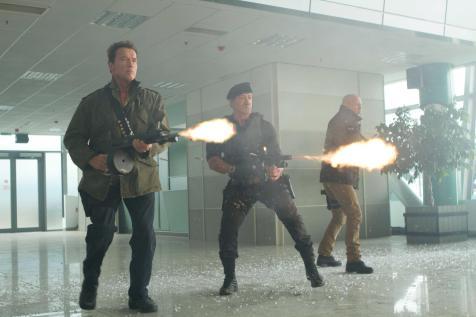The Expendables 2 - Arnold Schwarzenegger, Sylvester Stallone, Bruce Willis