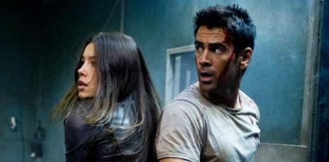 Total Recall (2012) - Jessica Biel and Colin Farrell