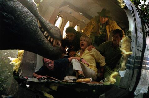 Jurassic Park III - (from top, L-to-R) Sam Neill, Alessandro Nivola, Téa Leoni, William H. Macy, Michael Jeter