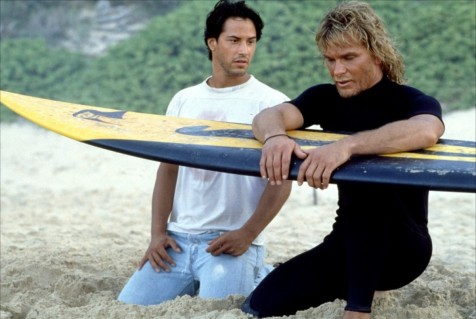 Point Break - Keanu Reeves and Patrick Swayze