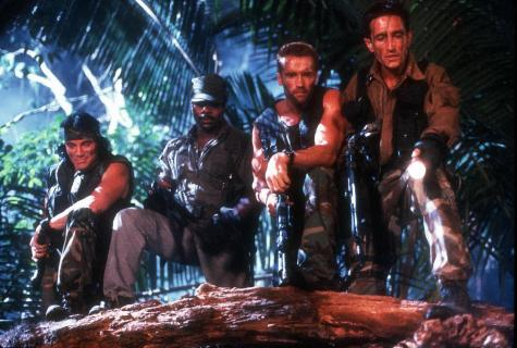 Predator - Sonny Landham, Carl Weathers, Arnold Schwarzenegger, and Richard Chaves