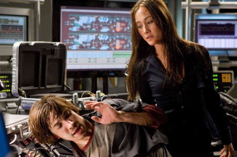 Live Free or Die Hard - Justin Long and Maggie Q