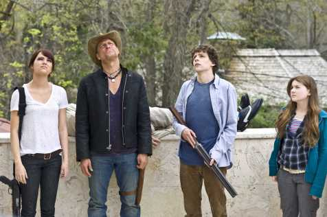 Zombieland - Emma Stone, Woody Harrelson, Jesse Eisenberg, Abigail Breslin