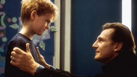Love Actually - Thomas Sangster and Liam Neeson
