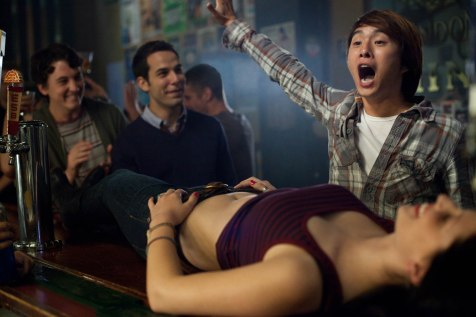 21 & Over - Miles Teller, Skyler Astin, Justin Chon, some girl