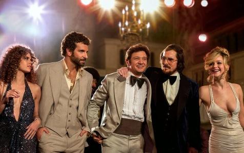 American Hustle - Amy Adams, Bradley Cooper, Jeremy Renner, Christian Bale, Jennifer Lawrence