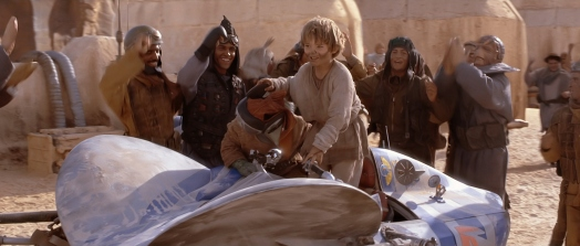 Star Wars Episode I: The Phantom Menace - Anakin Skywalker and podracer