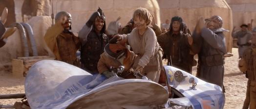 Star Wars Episode I: The Phantom Menace - Anakin Skywalker and podracer