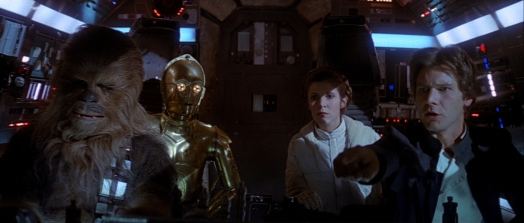 Star Wars Episode V: The Empire Strikes Back - Chewie, Luke, C-3PO, Leia, Han Solo