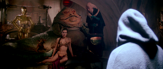 Star Wars Episode VI - C-3PO, Jabba the Hutt, Bib Fortuna, Salacious B. Crumb, Leia, Luke
