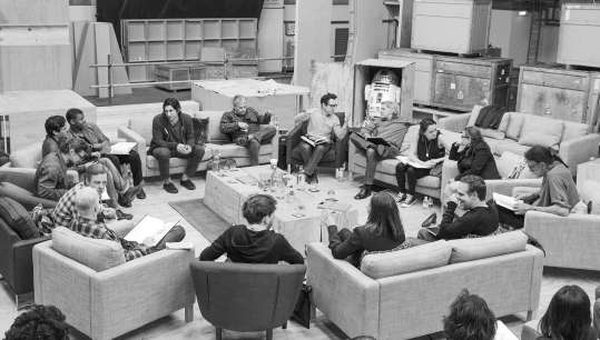 Star Wars Episode VII cast roundtable