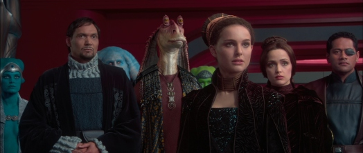 Star Wars Episode II: Attack of the Clones - Bail Organa, Jar Jar Binks, Padme Amidala, Dorme, and Captain Typho