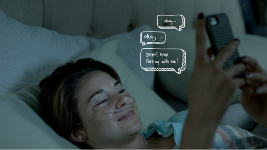 The Fault in Our Stars - Shailene Woodley, texting