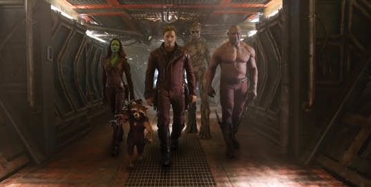 Guardians of the Galaxy - Zoe Saldaña, Bradley Cooper, Chris Pratt, Vin Diesel, Dave Bautista