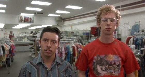 Napoleon Dynamite - Efren Ramirez, Jon Heder, thrift shop