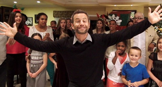 Kirk Cameron's Saving Christmas - Kirk Cameron's about to dance