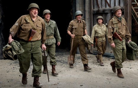 The Monuments Men - John Goodman, Matt Damon, George Clooney, Bob Balaban, Bill Murray