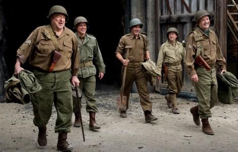 The Monuments Men - John Goodman, Matt Damon, George Clooney, Bob Balaban, Bill Murray