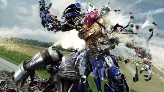 Transformers: Age of Extinction - Optimus goes boom