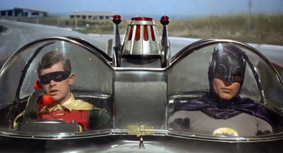 Batman The Movie - Burt Ward, Adam West, Batmobile
