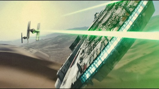 Star Wars: The Force Awakens - Millennium Falcon vs. Tie Fighters
