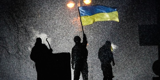 Winter on Fire: Ukraine's Fight for Freedom - flag