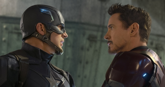 Captain America: Civil War - Chris Evans, Robert Downey, Jr.