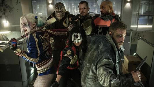 Suicide Squad - Adewale Akinnuoye-Agbaje, Joel Kinnaman, Wil Smith, Margot Robbie, Karen Fukuhara, Jai Courtney