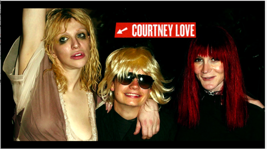 Author The JT LeRoy Story - Courtney Love photo op