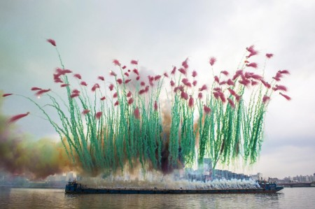 Sky Ladder: The Art of Cai Guo-Qiang - explosive display